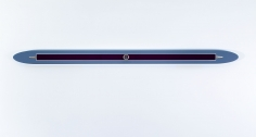 """BLUE-GRAY DECORATED INITIALED OVAL BAR"", 1970"
