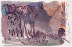 """Untitled"", 2005 Gouache, oil, oil crayon, graphite on paper"