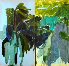 """Untitled"", 2010 Oil and acrylic on canvas, in 2 parts: each"