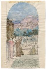 """""""Étude pour La Philosophie (Study for Philosophy)"""", ca. 1895-1896"""