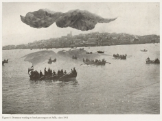 Mehreen Murtaza, Boatmen waiting to land passengers at Jaffa, circa 1911, 2012, Hahnemühle Matte Cotton Smooth Inkjet Paper