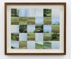 Chaouki Choukini, Paysage Decoupé recomposé 5, 1992, Watercolor on paper, 25 x 30 cm