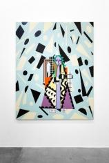 Farah Atassi, Modern Ballet, 2017, Oil and enamel on canvas, 200 x 160 cm