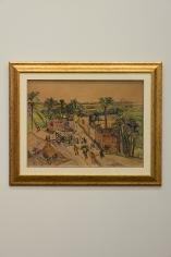 Zeinab Abdel Hamid, Untitled, 1956, Mixed media on paper, 53.5 x 72.8 cm