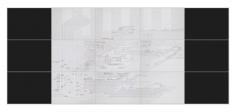 Seher Shah,Flatlands (scrim), 2015, Ink on paper, 15 panel drawing