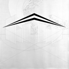 Seher Shah, Untitled (walls), 2010, Graphite and gouache on paper, 183 x 183 cm