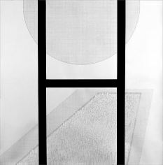 Seher Shah, Emergent Structures: Capital mass, 2011, Graphite and gouache on paper, 183 x 183 cm