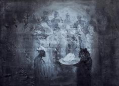 Ahmad Moualla, Untitled, 2011, Mixed media on canvas, 75.5 x 102 cm