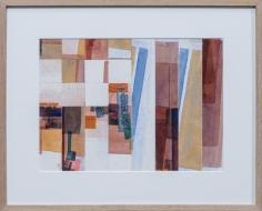 Chaouki Choukini, Composition recomposé 2, 1990, Watercolor on paper, 29 x 40 cm