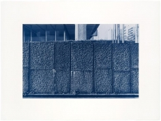 Seher Shah and Randhir Singh, Studies in Form, Dentsu Head Office (detail), 2018, Cyanotype prints on Arches Aquarelle Paper, 56x 76 cm
