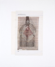 Kamrooz Aram, From the Series 7000 Years, 2010, Mixed media on paper, 43 x 36 cm