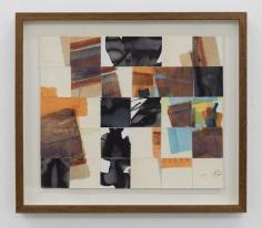 Chaouki Choukini, Coposition Decoupé Recomposé, 1990, Watercolor on paper, 30 x 20 cm