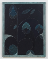 Kamrooz Aram, Nocturne 2 (Silent Nocturne), 2019, Oil, oil crayon, wax pencil and pencil on linen