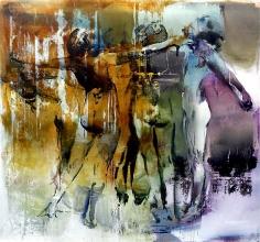Zsolt Bodoni, Shadow Movements No. 6, 2014, Acrylic on canvas, 185 x 200 cm