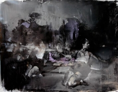 Zsolt Bodoni, Knee, 2012, Acrylic and oil on canvas, 95 x 123 cm