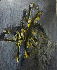 Shawki Youssef, Sea Presence, 2013, Mixed media on canvas, 147 x 180 cm