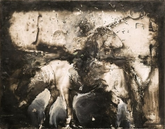 Zsolt Bodoni, Horse, 2012, Acrylic on photo, 24 x 19 cm