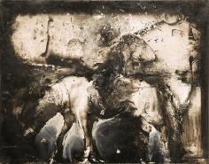 Zsolt Bodoni, Horse, 2012, Acrylic on photo, 24 x 19 cm