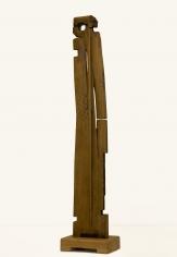Chaouki Choukini, Personnage, 2012-2019, Chêne/Oak, 163 x 35. x 25 cm
