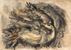 Elias Zayat,Study, 2014, Ink on paper, 70 x 100 cm