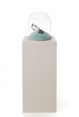 Hale Tenger, Give Me Back My Innocence, 2005-2012, Crystal shoe, glass bell jar, velvet and polyester pillow