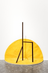 Ana Mazzei, Royale, 2018, Peroba wood, painted linen and magnets