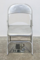 Nazgol Ansarinia, Private Assortment Series 2011 - 2013, Metal Chair, 2013, Mixed media, 50 x 46 x 80 cm