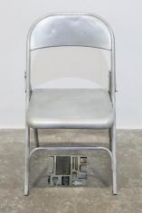 Nazgol Ansarinia, Private Assortment Series2011 - 2013, Metal Chair, 2013, Mixed media, 50 x 46 x 80 cm