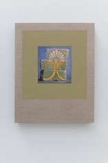 Kamrooz Aram,Variations on Glazed Bricks (3), 2021, Oil, color pencil and book pages on linen, 60.96 x 40.64 cm