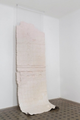 Nazgol Ansarinia, Membrane (unwashed silk), 2016, Paper, glue and paint, 550 x 166 cm