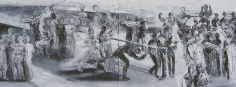 Ahmad Moualla, Untitled, 2011, Mixed media on canvas, 71.5 x 194 cm