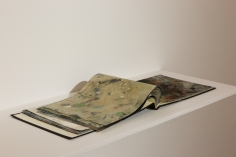 Yornel Martínez, Atlas (version 3), 2014, Book made of clothes used for painting