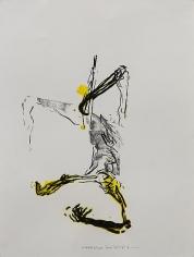 Shawki Youssef, Variation 1, 2013, Mixed media on paper, 48 x 36 cm