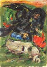 Elias Zayat,The Unknown, 2015, Tempura on board, 105 x 74 cm