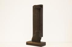 Chaouki Choukini, Cordes, 1979, Wangué/Wenge, 83 x 37 x 19 cm