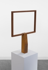 Ana Mazzei, Television, 2019, Peroba mica and garapera wood, wood stain paint