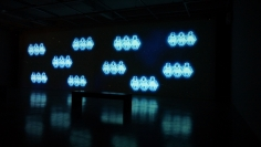 Hale Tenger, Swinging on the Stars, 2013, HD video installation with audio, 2 min 57 sec, Installation view