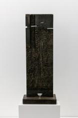 Chaouki Choukini, Transcendance 2, 2013, Wangué/ Wenge, 103 x 39.5 x 19.5 cm