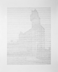 Seher Shah,Brutalist Traces (Glenkerry House-London), 2015, Graphite on paper, 127 x 101.6 cm