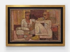Samir Rafi, Deux Hommes Accroupis,1957