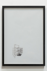 Nazgol Ansarinia, Untitled, Demolishing buildings, Buying waste, 2017, Ink and marker on paper,29.75 x 42cm