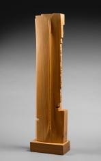 Chaouki Choukini, Monocorde, 2009, Cèdre/ Cedar, 90 x 23 x 9.5 cm