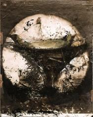 Zsolt Bodoni, Boat no. 2/2, 2012, Acrylic on photo, 19 x 24 cm