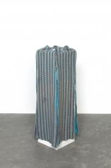 Alessandro Balteo-Yazbeck, Instrumentalized #28, 2017, Worn and stained pajama pants, semi-stretched around plinth