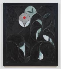 Kamrooz Aram, Shadowboxer, 2019, Oil, oil crayon and wax pencil on linen
