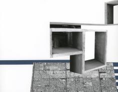 Seher Shah, Capitol Complex, Concrete, 2012, Collage on paper, 28 x 36 cm