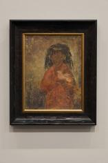 Tahia Halim, Untitled, Oil and gold leaf on canvas, 42 x 33 cm