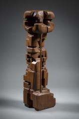 Chaouki Choukini, Obscure 2, 2014-15, Iroko, 77 x 18 x 19 cm