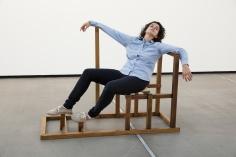 Ana Mazzei, Death, 2015, Wood and felt, 110 x 160 x 60 cm