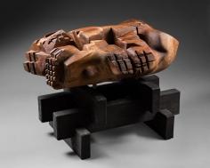 Chaouki Choukini, Lieu 2, 2014, Noyer, 83 x 62.5 x 56 cm